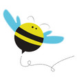 fat little bee on white background vector image vector image