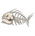 fish bone mascot vector image vector image