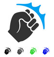 fist strike flat icon vector image