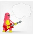 Funny Monster Rock Star vector image