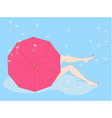 girl sitting on a cloud vector image vector image