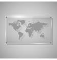 Glass Framework world map vector image