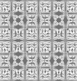 gray and white pattern seamless on gray background vector image