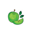 green apple icon on a white background vector image vector image