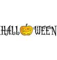Halloween Text vector image