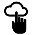 Hand on cloud icon vector image vector image