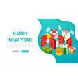 happy new year 2020 banner concept vector image vector image