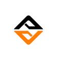 letter av logo design template vector image