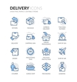 Line Delivery Icons vector image