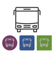 line icon bus in different variants vector image vector image