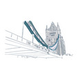 london bridge sketch line isolated view building vector image