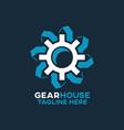 modern gear house logo vector image