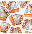 music instrument accordeon decorative pattern vector image