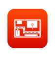 navigator icon digital red vector image vector image