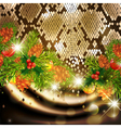 New Year Snake Background vector image vector image