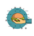 order and delivery of food vector image vector image
