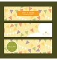 party decorations bunting horizontal banners set vector image vector image