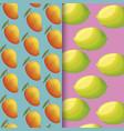 pattern of lemons and mangoes fresh fruits vector image vector image