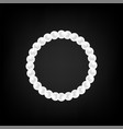 pearl necklace isolated vector image