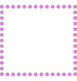 pink square frame of animal paws on white vector image vector image
