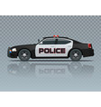 police car with rooftop flashing lights a vector image vector image