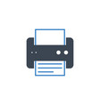 printer related glyph icon vector image vector image