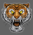 roaring tiger in classic tattoo style vector image vector image