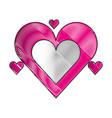 romantic love hearts passion vector image