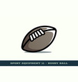 rugby ball icon game equipment professional sport vector image