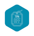 sale tag 75 percent off icon outline style vector image vector image