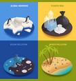 sea pollution design concept vector image vector image