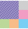 set diagonal wavy stream seamless pattern vector image