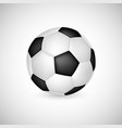 soccer ball in 3d realistic style vector image