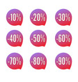special sale offers various discount lables set vector image vector image