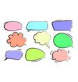 speech bubbles stickers speech bubbles vector image vector image