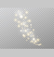 star explosion glowing light effect isolated on vector image vector image