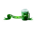stpatrick s day banner with beer mug vector image