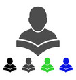 student flat icon vector image vector image