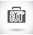Tool box single icon vector image