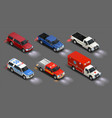 transportation vehicles realistic set vector image