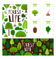 trees banner tag card vector image