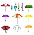 Umbrella isolated icons vector image vector image