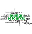 word cloud human resources vector image vector image