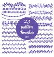 set of patterned floral brush vector image
