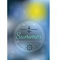 summer time blur backgound vector image
