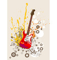 Retro Guitar Icon vector image
