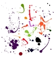 Set of black blots and ink splashes vector image