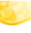 bright modern abstract orange swoosh border vector image