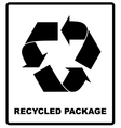 Recycled package symbol or sign of conservation vector image