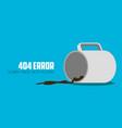404 error website not found graphic design vector image